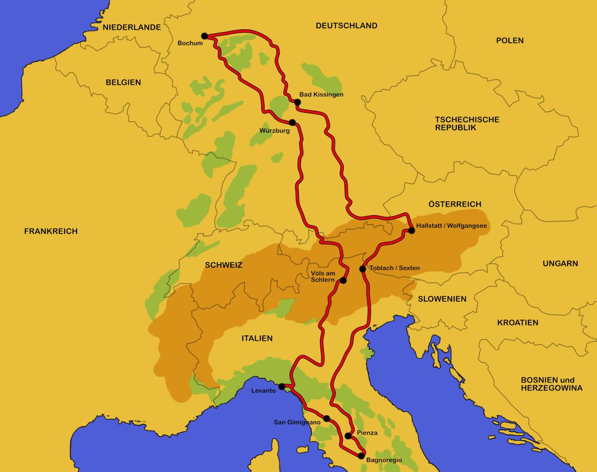 Sudtirol Karte Osterreich Italien.Wohnmobil Tour Italien Osterreich 2016 Dinky Land
